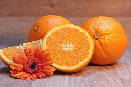 naranjas con vitamina c