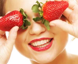 frutillas o fresas para el acne