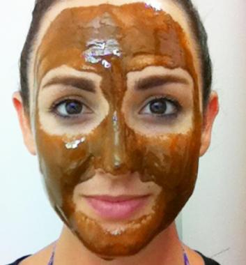mascarilla de canela para la piel de la cara