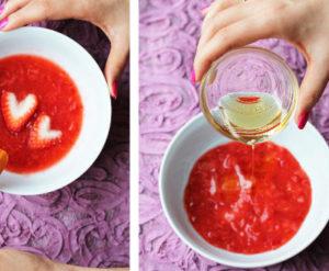como hacer una mascarilla de fresa casera