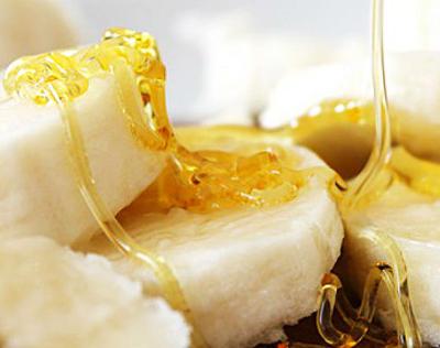 platano y miel